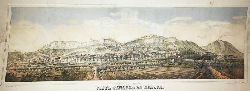 Vista General de Xtiva  Grabados VISTAS Vistas topograficas