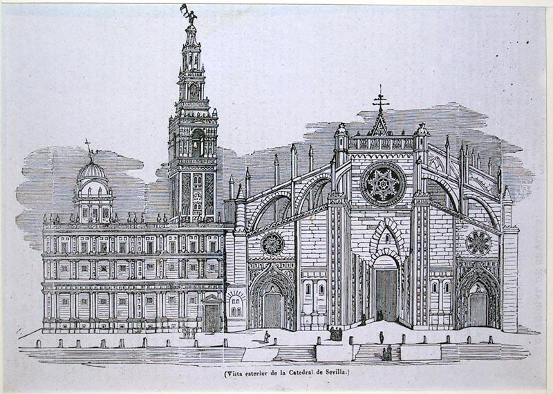 Resultado de imagen de Grabado antiguo de la Catedral de Sevilla