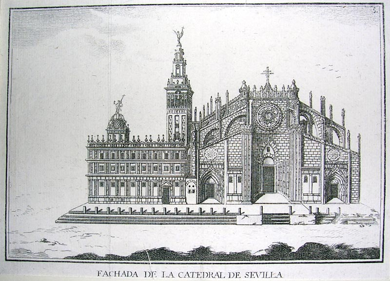 Fachada de la catedral de sevilla grabados arquitectura for Arquitectura sevilla
